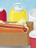 Illustration of Hotdog — Stock Photo