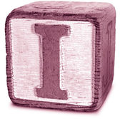 Photograph of Magenta Wooden Block Letter I — Stock Photo