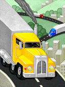 Illustration of Interstate — Stock Photo