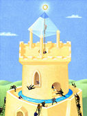 Illustration of Ivory tower — Stock Photo