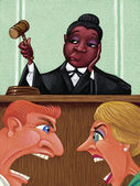 Illustration of Judge — Stock Photo