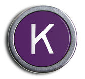 Photograph of Old Typewriter Key Letter K — Stock Photo
