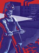 Illustration of Labor Day — Stock Photo