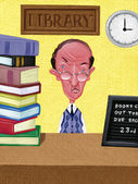 Illustration of Librarian — Stock Photo