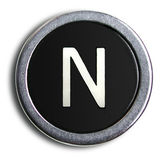Photograph of Old Typewriter Key Letter N — Stock Photo