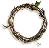 Natural Twig and Stick Letter O — Стоковое фото