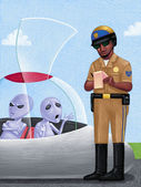 Illustration of Traffic Officer — Stock Photo