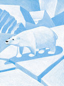 Illustration of Polar Bear — Foto de Stock