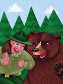 Illustration of Park Ranger — Stock Photo
