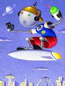 Illustration of Robokid — Stock Photo
