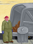 Illustration of Sanitation Worker — Stock Photo
