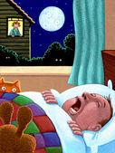Illustration of Snoring — Stock Photo