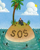 Illustration of SOS — Stock Photo