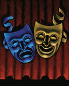 Illustration of Theater Masks — Stock Photo