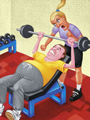 Illustration of Personal Trainer — Stockfoto
