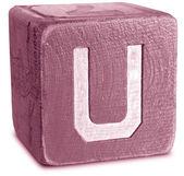 Photograph of Magenta Wooden Block Letter U — Стоковое фото