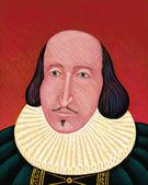 Illustration of William Shakespeare — Stock Photo