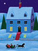 Illustration of Christmas House — Stock Photo