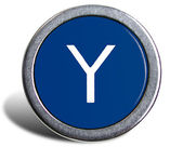 Photograph of Old Typewriter Key Letter Y — Stock Photo
