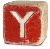 Фотография деревянный блок буквы Y — Стоковое фото