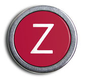 Photograph of Old Typewriter Key Letter Z — Stock Photo