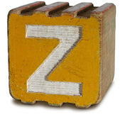 Photograph of Sepia Wooden Block Letter Z — Стоковое фото
