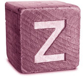 Photograph of Magenta Wooden Block Letter Z — Стоковое фото