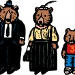 Постер, плакат: 3 Bears Papa Bear Mama Bear and Baby Bear
