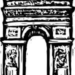 Vector Illustration of Arc de Triomphe — Stock Vector