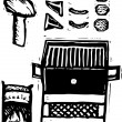 Vector Illustration of Barbecue — 图库矢量图片