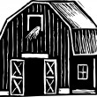 Stock Vector: Vector illustration of Barn