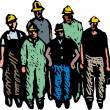 Crew of Workmen — Stock Vector