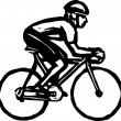 Vector Illustration of Bicyclist — Stock Vector