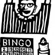 Woodcut Illustration of Bingo — Stock Vector