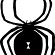 Stock Vector: Black Widow Spider