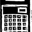 Woodcut Illustration of Calculator — Stock Vector