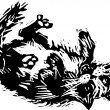 Woodcut illustration of Catnip — Stock vektor