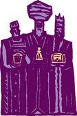 Three Kings or Three Wisemen — Stock Vector