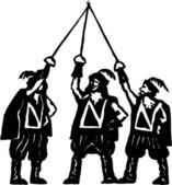 3 Musketeers — Stock Vector