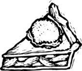 Dondurmalı gravür çizimi — Stok Vektör