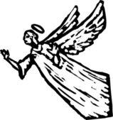 Woodcut Illustration of Angel — Stock Vector