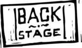 Vector Illustration of Back Stage Pass — Stock Vector
