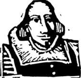 Vector Illustration of William Shakespeare — Stock Vector