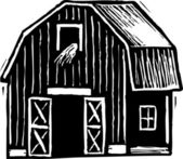 Vector illustration of Barn — Vector de stock