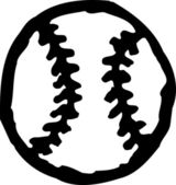 Vector Illustration of Baseball — Stock vektor