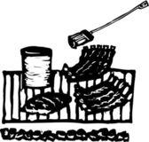Vector illustration of Backyard BBQ — Stock Vector