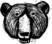 Vector Illustration of Bear Head — Stock Vector