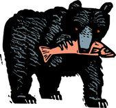 Black Bear — Stock Vector