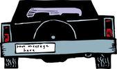 Bumper Sticker — Stock Vector