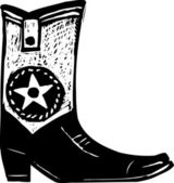 Illustrazione di cowboy boot — Vettoriale Stock